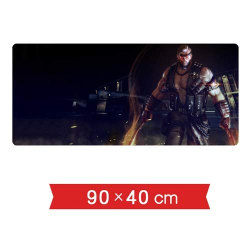 DMWSD Mauspad Table Mat Crossfire CF Game Character Ghost Hunter Biochemical Geist Gegner Dual-Kukri Maxi-Nahtschlupf Professionelle Gaming Mouse Pad Schreibtisch Laptop PC Peripherals