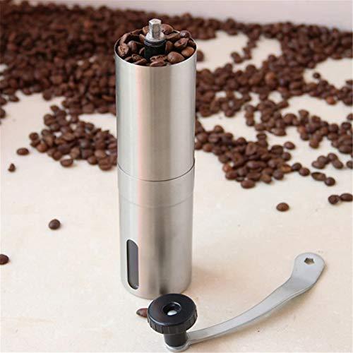 Bureau Moulin à café manuel Moulin à café argent Mini en acier inoxydable Manuel Main fait main grain de café Burr Grinders Moulin Cuisine Outil Graines de noix