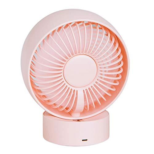 Gazechimp Ventilador de de Alimentación USB Ajustable de Velocidad, Ventilador Personal de Circulación de Aire de Escritorio para Dormitorio, Oficina, Inte - Rosa