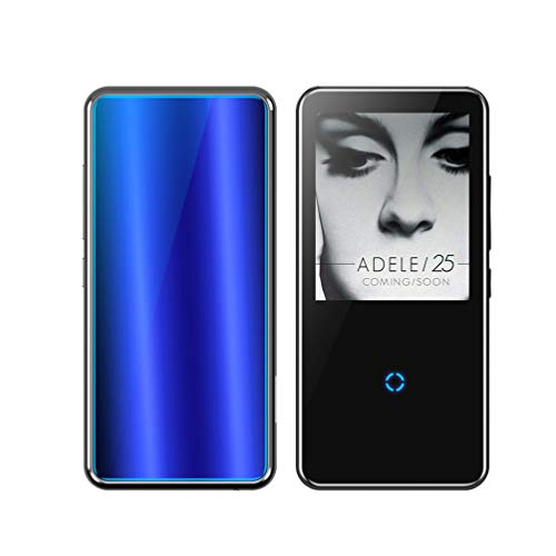 "XMAGG® MP3 Player, HiFi Bluetooth Digitales Audio Player 2.4"" Zoll Touch Taste Bildschirm 8G SD Karte Wiedergabe Sprachaufzeichnung FM Radio Recorder E-Book Reader,Blue,16G"