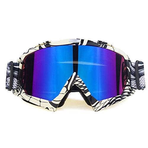 Zfeng deportes al aire libre gafas Off-road downhill motocicleta equitación equipo esquí anti-viento y arena salpicaduras gafas anti-impacto y polvo protección ocular-E