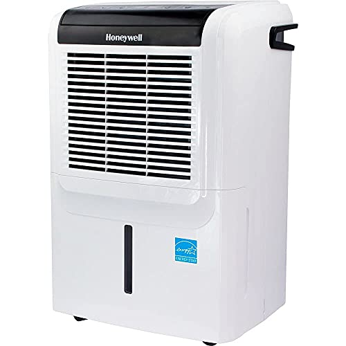 Honeywell DH70PWKN 70 Pint (50 Pint 2019 DOE) Energy Star Dehumidifier with Built-in Drain Pump & 5 Year Warranty (Renewed)