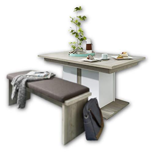 CELIA Esstisch in Silber-Eiche Optik - ausziehbarer Esszimmertisch für Ihr Wohn- und Esszimmer - 160-210 x 76 x 90 cm (B/H/T)