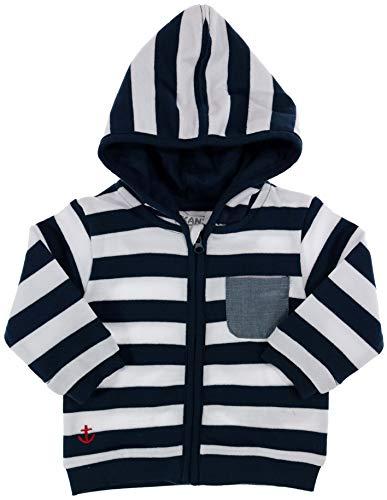 Kanz Jungen Baby-Jacke mit Kapuze AHOI, Marineblau, Gr. 62 (62)