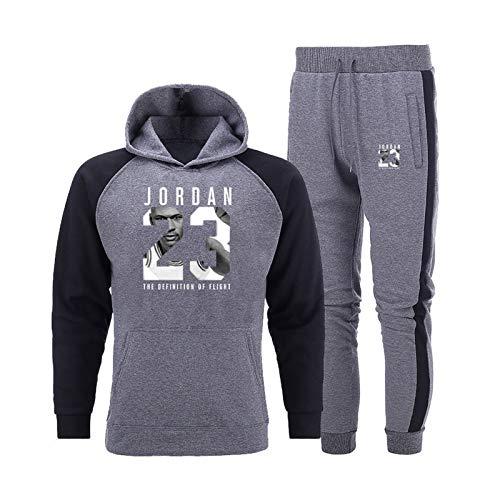 Conjunto de chándal para hombre, Jordän, sudadera con capucha y pantalón, estilo informal, 2 piezas, sudadera con capucha y sudadera de 5 L