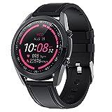 Smart Watch for Men, Bulit Rastreador De Fitness En Bluetooth Llamada A La Velocidad Cardíaca Presión Arterial Y Monitor De Suspensión, Reloj Deportivo A Prueba De Agua,Negro