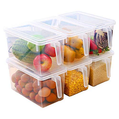 NACEO voedsel opslag containers groot met handvat en deksels, vers fruit en groenten in de Koelkast, volkoren plastic opslag Consolidatie doos