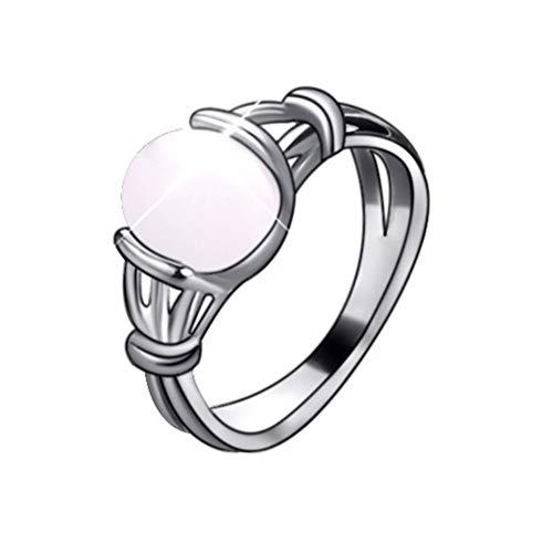 XCFS Vampire Twilight Bella's Moon Lingt White Stone Band Ring Silver...
