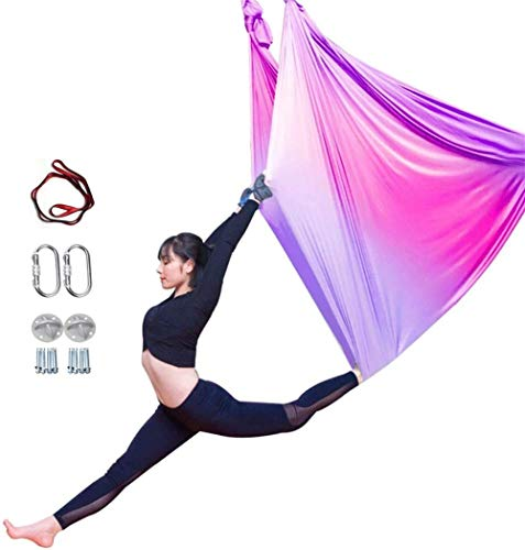 Affordable YAOSHUYANG Aerial Yoga Hammock, Aerial Yoga Swing Set, Ultra Strong Antigravity Yoga Hamm...