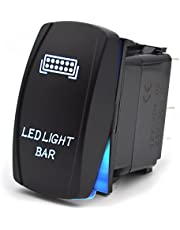 Desconocido Interruptor de Palanca Encendido/Apagado 5 Pines Barra de luz led Faro para el Barco de Tronco automático 12V 20A 24V 10A - Azul