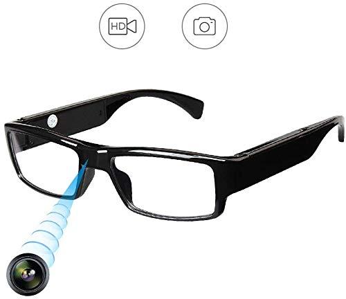 Spionagekamera Kamera Brille HD 960P Kamera überwachungskamera mit Akku Spycam Tragbare Überwachungskamera,Speicher Aufzeichnung Kamera Geeignet für Konferenzen,Klassenzimmer,Ausstellungen