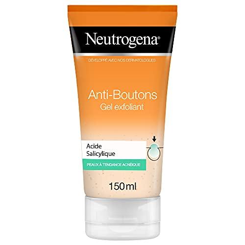 Neutrogena Anti-Boutons Gel Exfoliant à l'Acide Salicylique, Peaux à Tendance Acnéique, Tube 150 ml