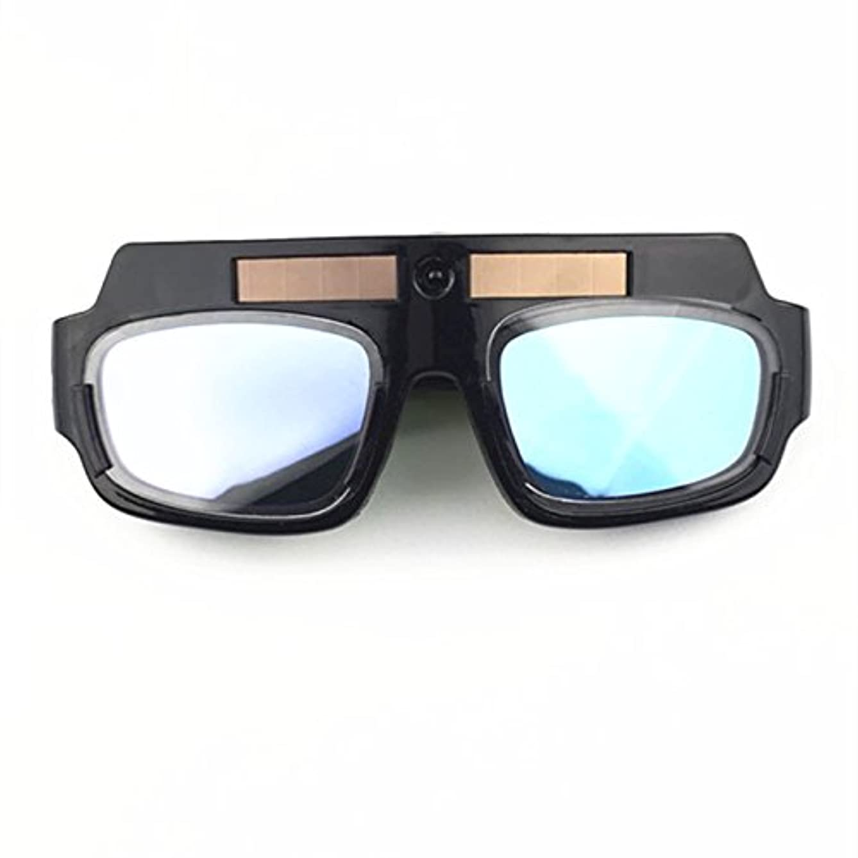 Welding Goggles Zinnor Welding Glasses Mask Lens Helmet Auto Darkening Solar Powered Anti-scraping Welder Glasses Arc PC Lens For Welding Protection