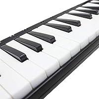 37ピアノ学生初心者の子供のためのキャリングバッグとキーメロディカ楽器 鍵盤楽器 初心者 練習用 (Color : Black)