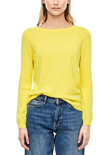 s.Oliver Damen 05.911.61.7013 Pullover, Gelb (Yellow 1184), (Herstellergröße: 36)