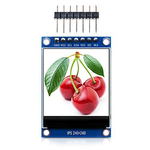 """DiyStudio 1.3"""" カラーIPS LCDディスプレイ240X240解像度 HD TFTカラフルスクリーンモジュールHD画面LEDバックライト、ドライバーIC ST7789VW 7ピン4つのSPIインターフェースRGB 65Kフルカラー 3.3V、TFTスクリーンの代替品 、Arduino UNO / MEGA 2560 / Raspberry Pi 51 / AVR / STM32 / ARM / PIC / Nanoと互換性があります"""