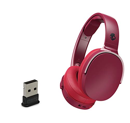Skullcandy HESH 3 Noise-Isolating Over-Ear Wireless Bluetooth Headphone Bundle with 2.0 USB Bluetooth Adapter - Moab/Red/Black