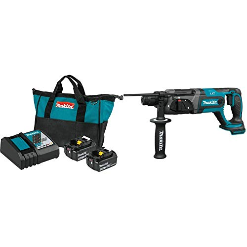 """Makita BL1840BDC2 18V LXT Lithium-Ion Battery and Rapid Optimum Charger Starter Pack (4.0Ah) with XRH04Z 18V LXT Lithium-Ion Cordless 7/8"""" Rotary Hammer, Accepts SDS-Plus bits"""