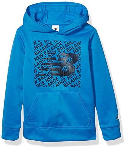 New Balance Kids Boys' Big Graphic Hoodie, Lapis Blue, 10/12