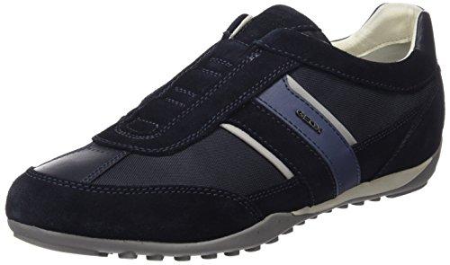 Geox U Wells A, Zapatillas Hombre, Azul (Navy), 44 EU