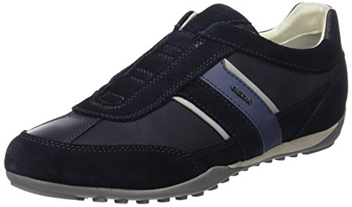 Geox U Wells A, Zapatillas para Hombre, Azul (Navy), 44 EU