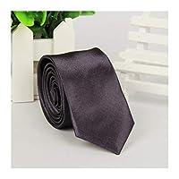 ブラックネクタイメンズネクタイ 男性のスキニーネクタイウェディングドレスのネクタイファッションビジネスシャツソリッドネクタイスリムアクセサリーロットのネクタイ (Color : Dark Gray)