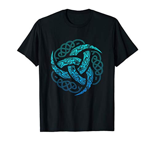 VIKING CELTIC KNOTWORK TRIPLE HORN OF ODIN T-SHIRT