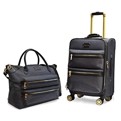Adrienne Vittadini Two-Tone Nylon Luggage Set (2 piece set, Black)