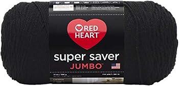 RED HEART E302C.0312 Super Saver Jumbo Yarn Black