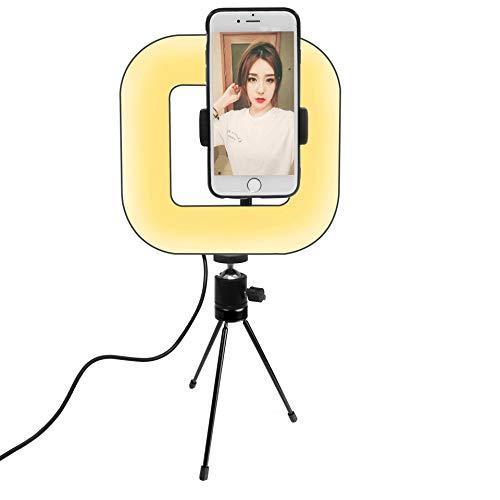 RHG LED Statief Dimbaar Vierkant Licht, 3 Soorten Verlichtingsmodi, 72 LED Lamp Kralen Vierkant Studio verlichting, Self-Timer Vul Licht Geschikt Voor Make-up Room Spiegel Foto Video Licht