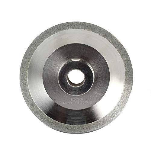 Muela abrasiva de diamante (SDC o CBN opcional) para rectificadora de brocas MR-26A, 26D.G3, F6, 125x20x19 mm, CBN