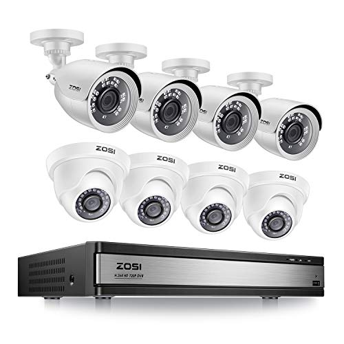 ZOSI 1080p 16 Channel 8 Camera Security System, 16 Channel DVR Recorder and (8) 2MP 1080p...