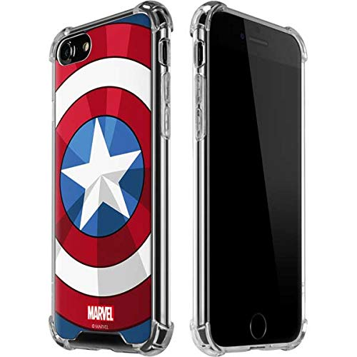 Skinit Clear Phone Case for iPhone 8 - Officially Licensed Marvel/Disney Captain America Emblem Design