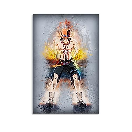 DRAGON VINES Zoro - Póster de manga de anime de una pieza, decoración de habitación para adolescentes y niñas, decoración estética, 40 x 60 cm