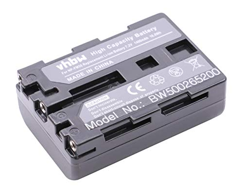 vhbw Li-Ion Akku 1200mAh (7.2V) für Kamera Sony Video Walkman DCR-TRV840, DCR-TRV950, DSC-F707, DSC-F717 wie NP-FM30, NP-FM50, NP-FM70.