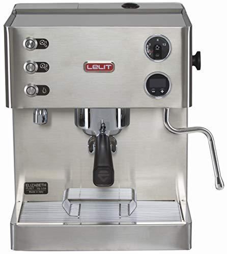 Elizabeth, Semi-Professionelle Kaffeemaschine mit Dual Boiler und Pre-Infusion - Ideal für Espresso-Bezug, Cappuccino - Graphisches LCD-Display und LCC elektronisches Managementsystem