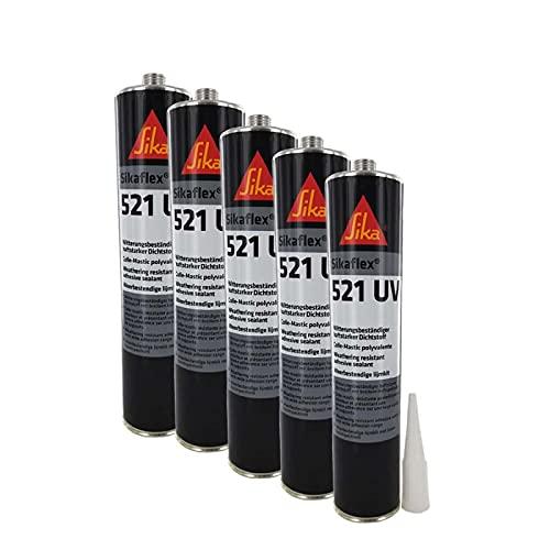 Colla sigillante ibrida UV Sikaflex 521 SIKA - Nero - 300ml - Venduta entro il 5