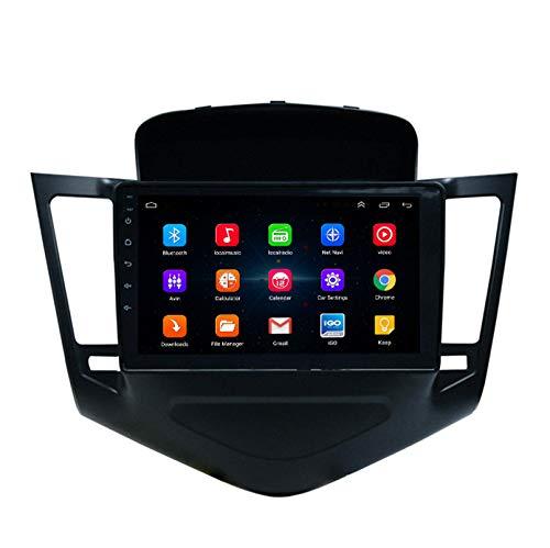Android 9.1 8 Core 2.5D Pantalla Estéreo para automóvil Navegación por satélite Radio DVD Control del volante Reproductor de video Navegación GPS multimedia para Chevrolet Cruze 200(Color:WiFi 1G+16G)