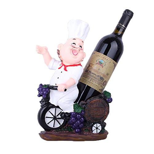 Portabottiglie da Vino Creativo da tavolo, portabottiglie in Resina da Chef Europeo, espositore per bottiglie di Vino di lusso, per gli Amanti del Vino