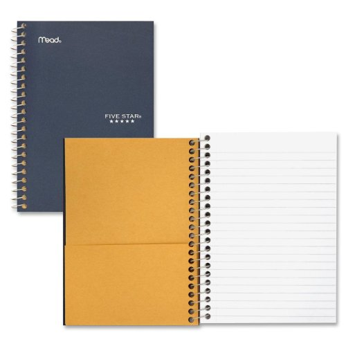 Mead Five Star Personal Wirebound College Ruled Notebook, 5 x 7, 100 Sheets, Color Will Vary (45484) Pack of 2