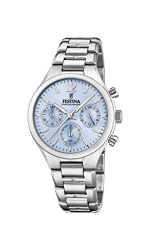 Festina Damen Chronograph Quarz Uhr mit Edelstahl Armband F20391/3