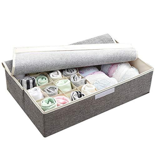Tie Box Chambre Maison Multi-Fonction Voyage Vêtements de Stockage Boîte de Finition Grande capacité 17 Grille Portable Boîte de Rangement (Color : A)