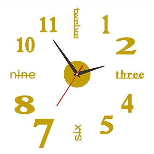 3D Wandaufkleber Uhr 20-50cm Verstellbare Spiegeloberfläche Rahmenlose Wanduhr,3D Wall Sticker Clock 20-50cm Adjustable Mirror Surface Frameless Wall Clock with Silent Movement Modern DIY Decoration