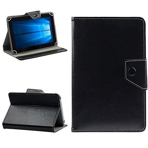 NAUC Lenovo Miix 320 310 300 Tablet Schutzhülle Universal Tasche aus Kunst-Leder Hülle Standfunktion Tablettasche Cover Schutz Hülle Schutzhülle, Farben:Schwarz