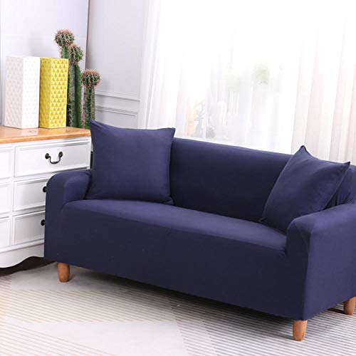 HXTSWGS Slipcover Furniture Protector,Stretch sofa cover, stretch fabric, furniture protection cover-Blue 17_90-140cm