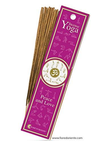 Fiore d'Oriente Peace & Love Yoga 10 bâtonnets d'encens