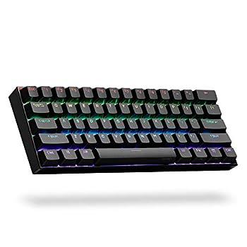 ANNE PRO 2 60% Wired/Wireless Mechanical Keyboard  Gateron Brown Switch/Black Case  - Full Keys Programmable - True RGB Backlit - Tap Arrow Keys - Double Shot PBT Keycaps - NKRO - 1900mAh Battery