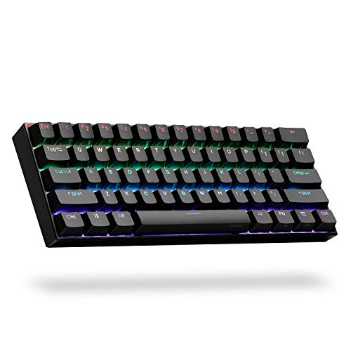ANNE PRO 2, 60% Wired/Wireless Mechanical Keyboard (Gateron...