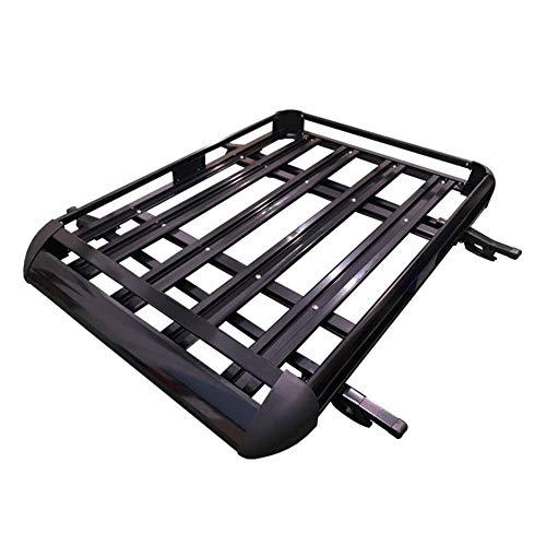 YANGYUAN Tejado Doble Capa Layer Barras de Coches Porta Carga/Barra de Techo Cesta de Equipaje Caja (Negro Junta 4 Piezas) (Size : 140 * 100)
