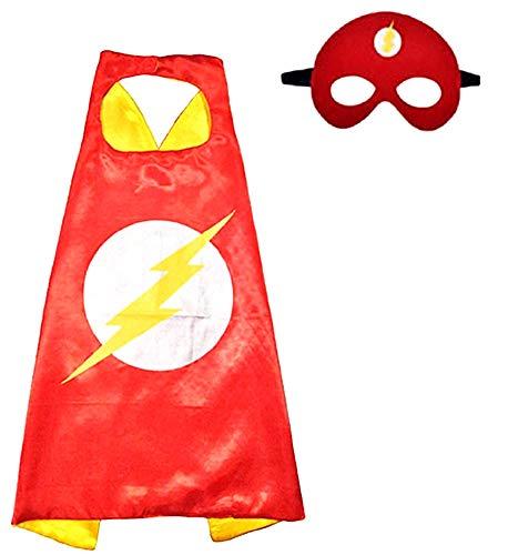 Disfraz flash - super - disfraces para niños - halloween - carnaval - héroe - color rojo - máscara - capa - niño - 3/6 años - idea de regalo original flash